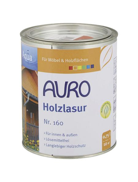 AURO Holzlasur »Aqua«, für innen & außen, 0,75 l, Orange, seidenglänzend