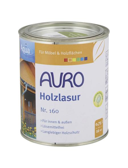 AURO Holzlasur »Aqua«, für innen & außen, 0,75 l, Oxid Grün, seidenglänzend