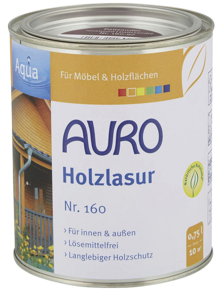 AURO Holzlasur »Aqua«, für innen & außen, 0,75 l, Palisander, untergrundabhängig