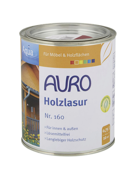 AURO Holzlasur »Aqua«, für innen & außen, 0,75 l, Rubinrot, untergrundabhängig