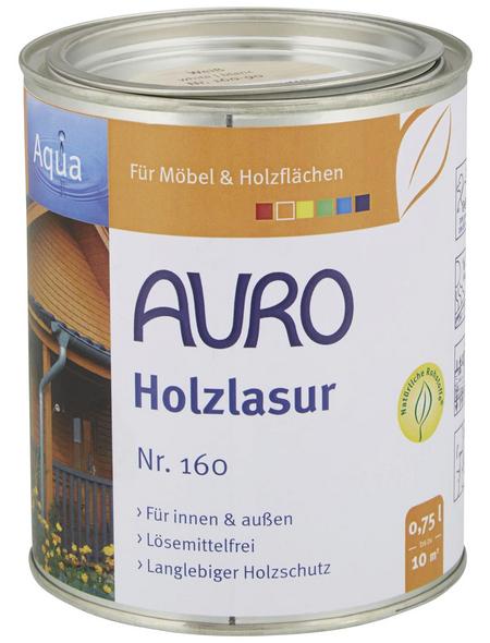 AURO Holzlasur »Aqua«, für innen & außen, 0,75 l, weiß, untergrundabhängig
