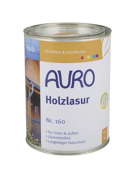 AURO Holzlasur »Aqua«, für innen & außen, 2,5 l, farblos, seidenglänzend