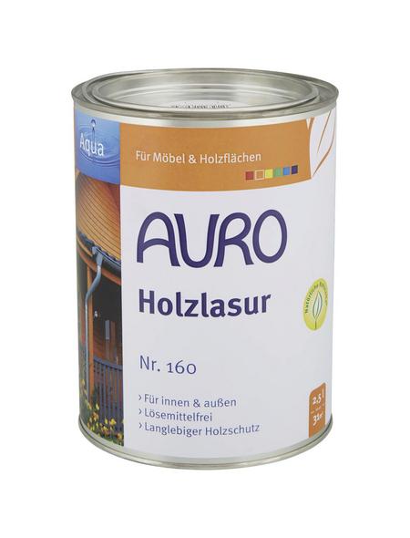 AURO Holzlasur »Aqua«, für innen & außen, 2,5 l, Oxid Grün, seidenglänzend