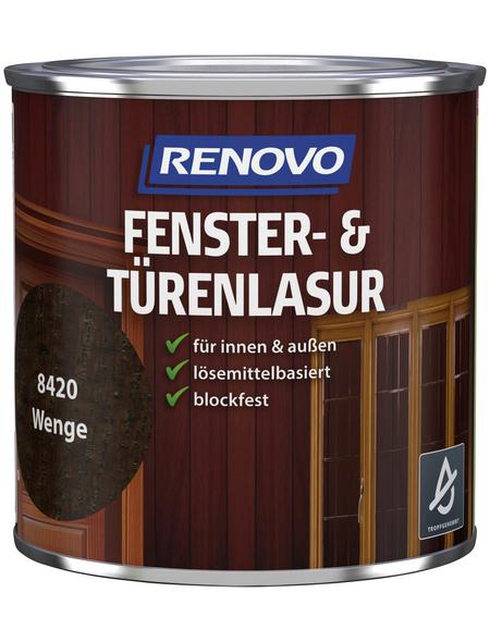 RENOVO Holzlasur, für innen & außen, 0,375 l, braun, seidenglänzend