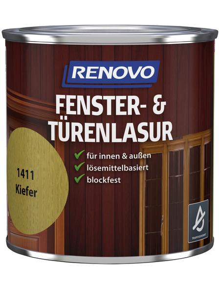 RENOVO Holzlasur, für innen & außen, 0,375 l, Kiefer, seidenglänzend