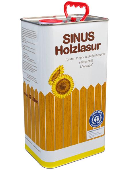SINUS Holzlasur für innen & außen, 5 l, Palisander, seidenmatt