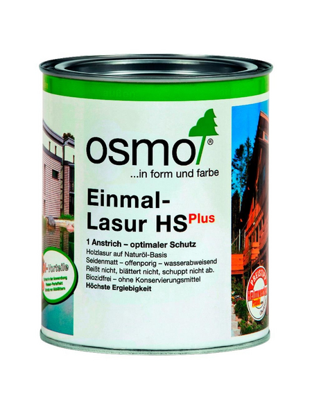 OSMO Holzlasur »HS Plus«, für außen, 0,75 l, Mahagoni, seidenmatt