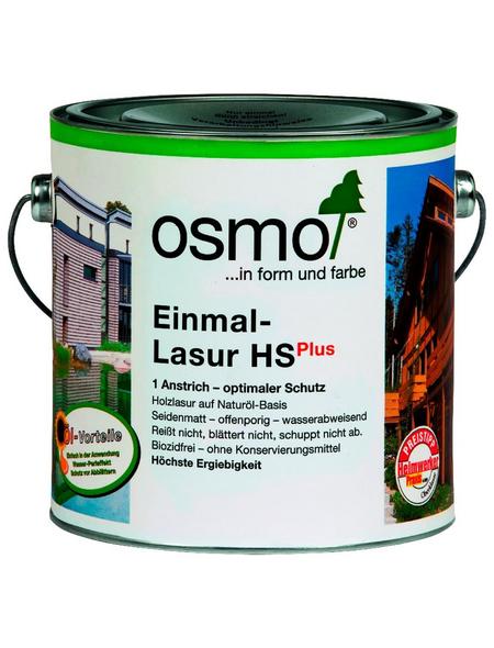 OSMO Holzlasur »HS Plus«, für außen, 2,5 l, Fichte weiß, seidenmatt