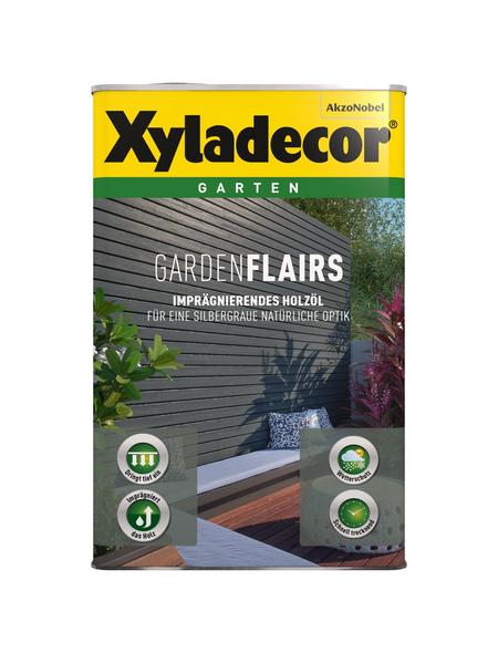 XYLADECOR Holzöl für außen, 2,5 l, klassikgrau, seidenglänzend