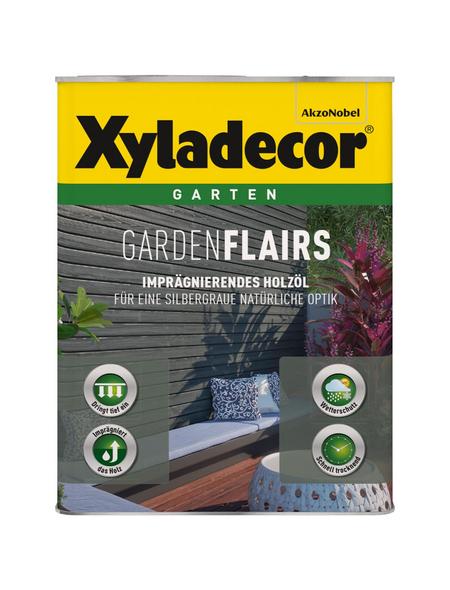 XYLADECOR Holzöl »Gardenflairs« für außen, 0,75 l, klassikgrau, seidenglänzend