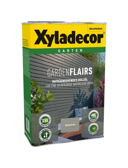 XYLADECOR Holzöl »Gardenflairs« für außen, 2,5 l, grau, seidenglänzend