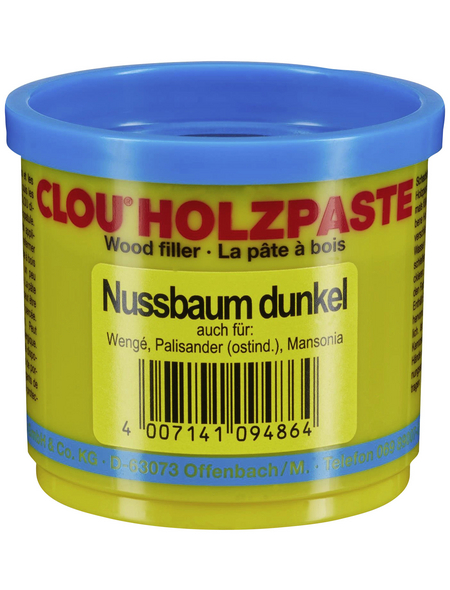 CLOU Holzpaste, Wasserbasis, nussbaumfarben-dunkel, matt
