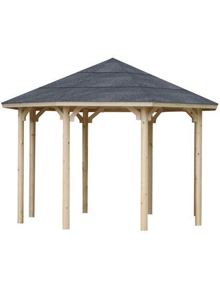 WOLFF Holzpavillon »Kreta 8 XL«, achteckig, achteckig, BxT: 406 x 406 cm