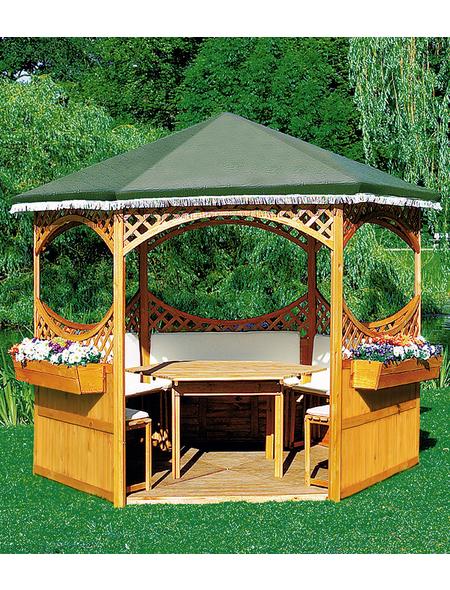 PROMADINO Holzpavillon »Palma«, sechseckig, BxT: 308 x 308 cm