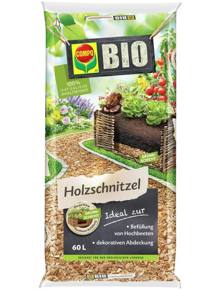 COMPO Holzraspel, 60 l, Bio-Qualität, natur
