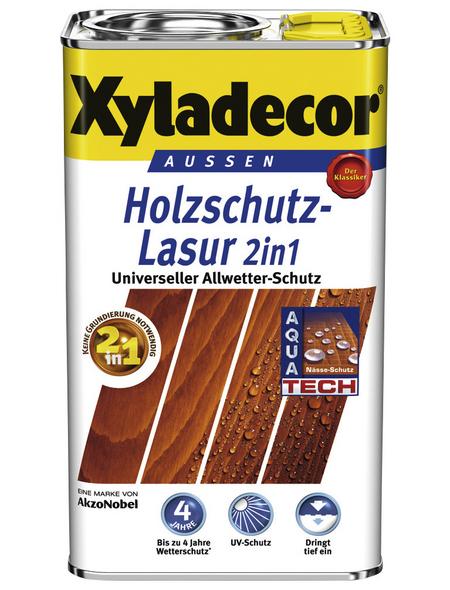 XYLADECOR Holzschutz-Lasur, Farbton Eiche, für außen, 5 l
