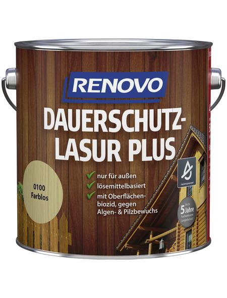 RENOVO Holzschutz-Lasur für außen, 4 l, farblos, seidenglänzend