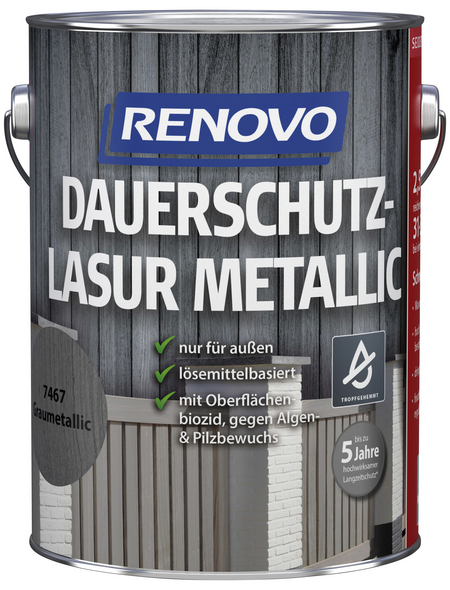 RENOVO Holzschutz-Lasur Grau