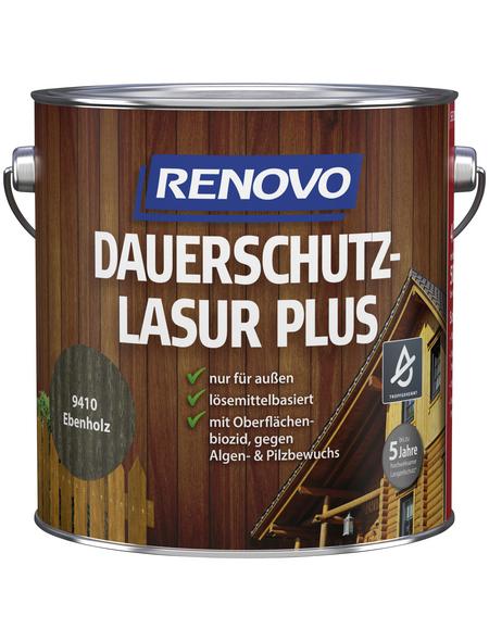 RENOVO Holzschutz-Lasur »PLUS«, Ebenholz, außen
