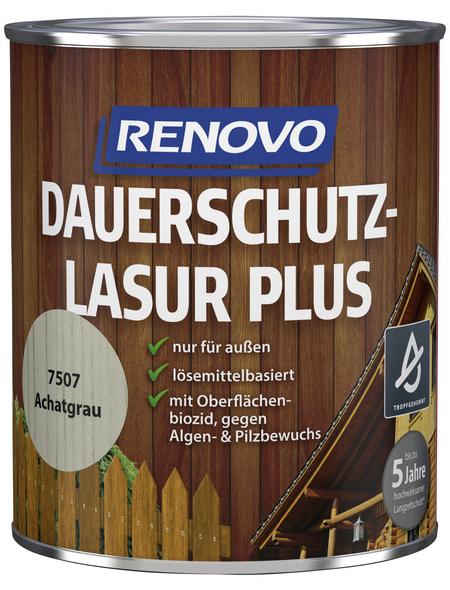 RENOVO Holzschutz-Lasur »PLUS« für außen, 0,75 l, achatgrau