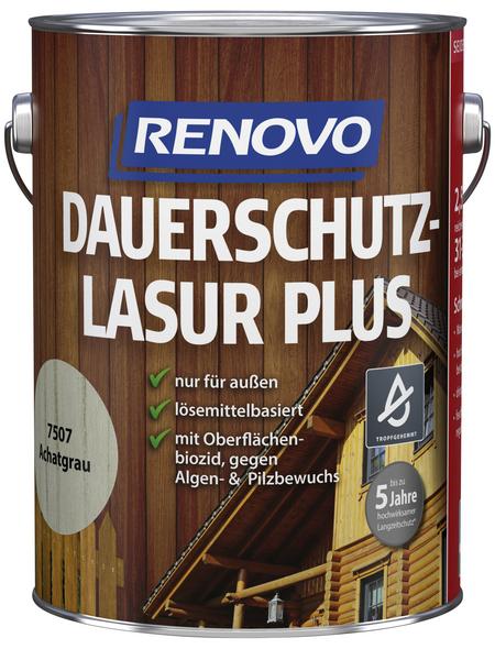 RENOVO Holzschutz-Lasur »PLUS« für außen, 2,5 l, achatgrau