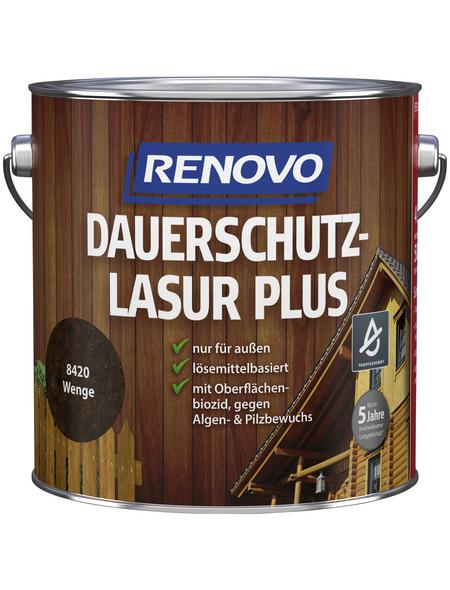 RENOVO Holzschutz-Lasur »PLUS«, für außen, 4 l, braun