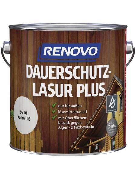 RENOVO Holzschutz-Lasur »PLUS« für außen, 4 l, kalkweiß
