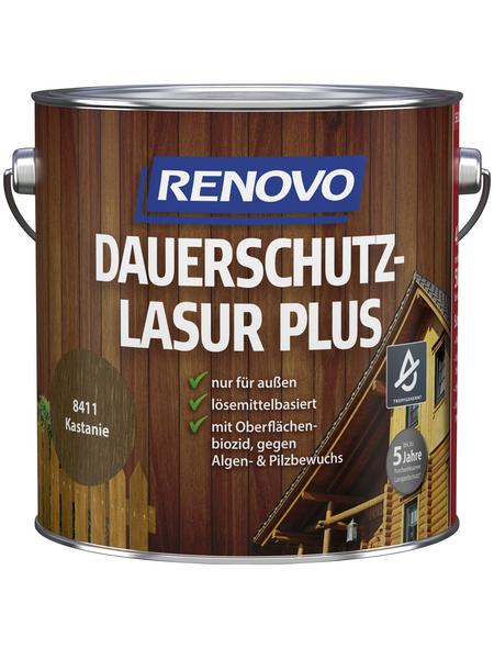 RENOVO Holzschutz-Lasur »PLUS«, für außen, 4 l, Kastanie
