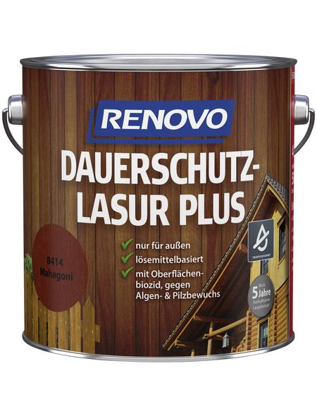 RENOVO Holzschutz-Lasur »PLUS« für außen, 4 l, Mahagoni