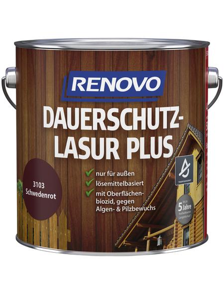 RENOVO Holzschutz-Lasur »PLUS«, für außen, 4 l, schwedischrot