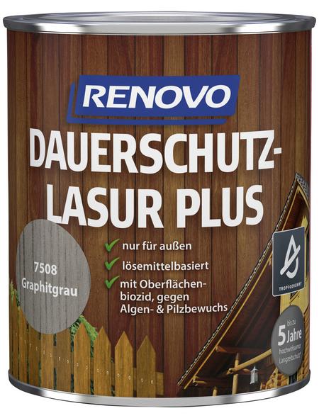 RENOVO Holzschutz-Lasur »PLUS«, Graphitgrau