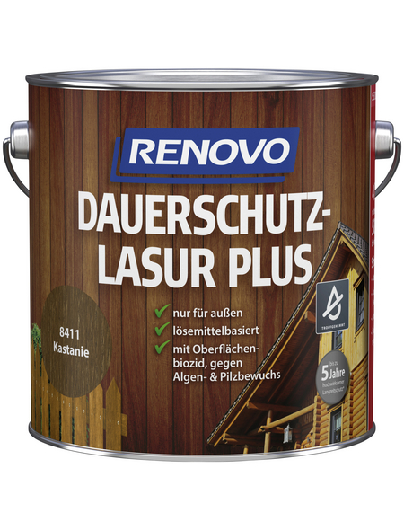 RENOVO Holzschutz-Lasur »PLUS«, Kastanie, außen