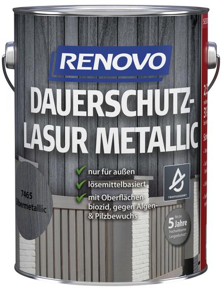 RENOVO Holzschutz-Lasur Silber-metallic