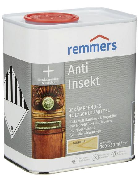 REMMERS Holzschutzmittel »Anti-Insekt«, Farbton farblos, für innen & außen, 0,75 l