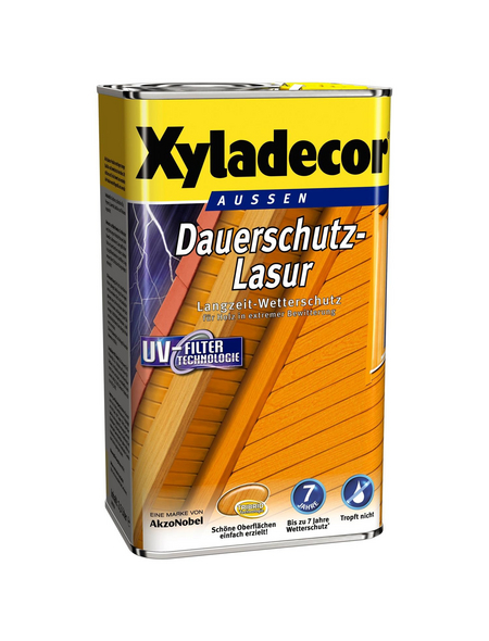 XYLADECOR Holzschutzmittel für außen, 4 l, Oregon Pine, seidenglänzend