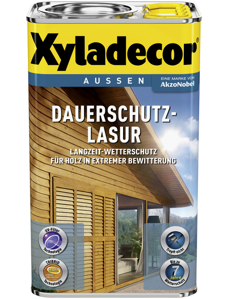 XYLADECOR Holzschutzmittel für außen, 4 l, Teak, seidenglänzend