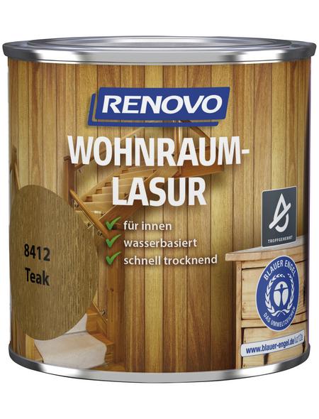 RENOVO Holzschutzmittel für innen, 0,375 l, Teak, seidenglänzend