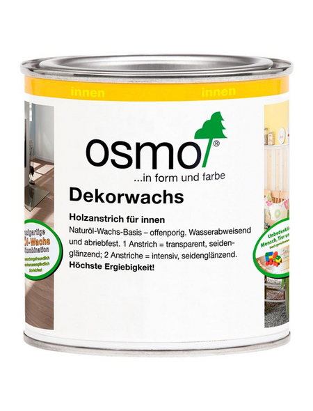 OSMO Holzwachs, für innen, 0,125 l, graubeige, seidenmatt