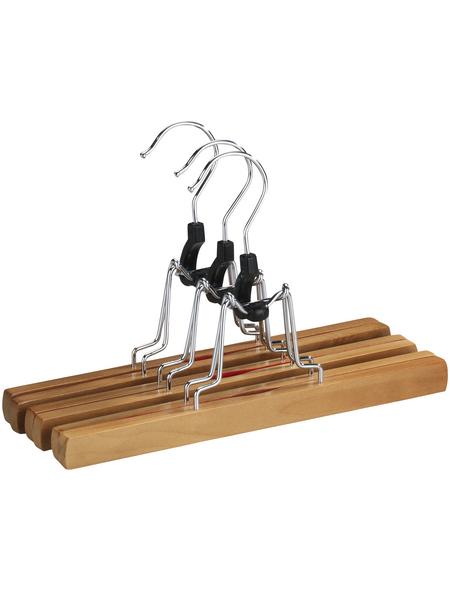 WENKO Hosenklemmbügel, BxHxL: 25 x 16,5 x 2,2 cm, Holz, braun