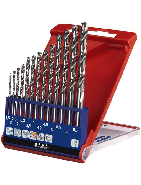 KWB HSS Metallbohrer-Set, 13 mm, 13 Bohrer, 1,5-6 mm