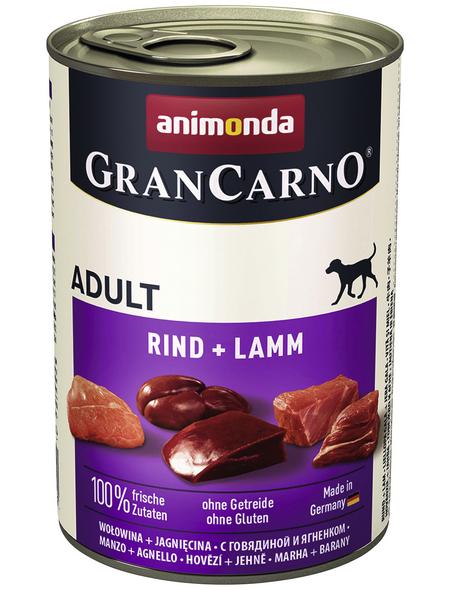 GranCarno® Hunde-Nassfutter »Adult«, Rind/Lamm, 400 g
