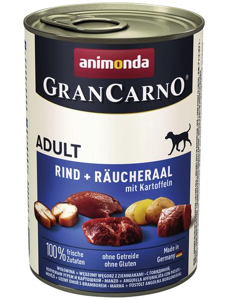 GranCarno® Hunde-Nassfutter »Adult«, Rind/Räucheraal/Kartoffel, 400 g