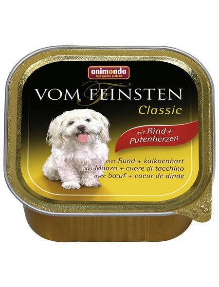 VOM FEINSTEN Hunde-Nassfutter »Classic«, Rind/Pute, 150 g