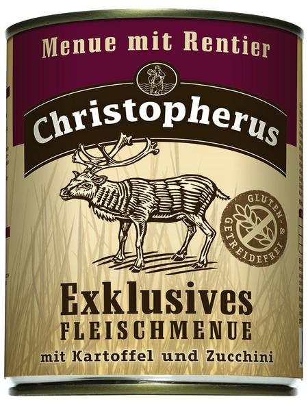 Hunde Nassfutter »Exklusives Fleischmenue«, Rentier / Kartoffel, 6x800 g