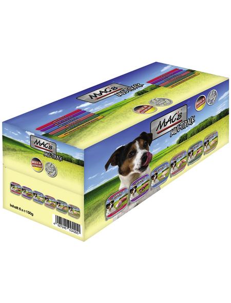 MAC'S Hunde-Nassfutter, flEisch/Fisch/Geflügel, 4 Packungen