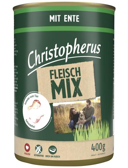 CHRISTOPHERUS Hunde-Nassfutter »Fleischmix«, Ente, 400 g