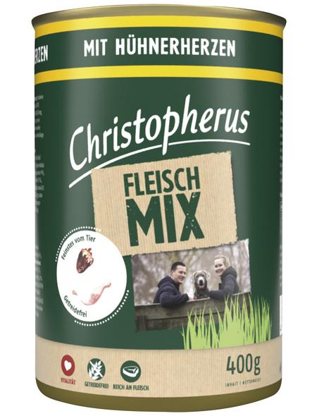 CHRISTOPHERUS Hunde-Nassfutter »Fleischmix«, Huhn, 400 g