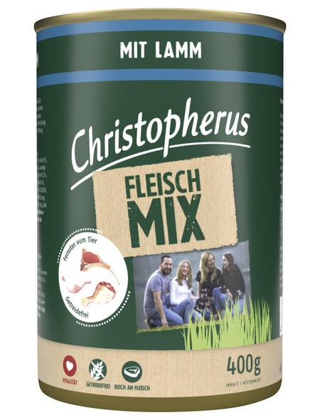 CHRISTOPHERUS Hunde-Nassfutter »Fleischmix«, Lamm, 400 g