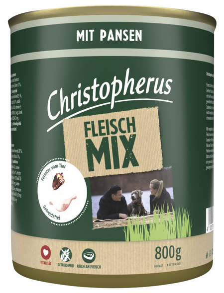 CHRISTOPHERUS Hunde-Nassfutter »Fleischmix«, Pansen, 800 g