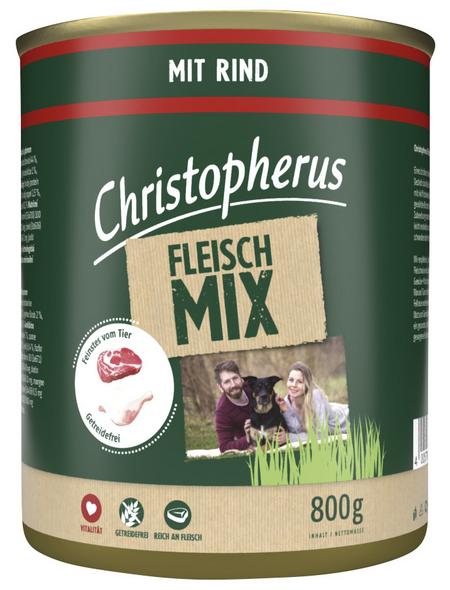 CHRISTOPHERUS Hunde-Nassfutter »Fleischmix«, Rind, 800 g